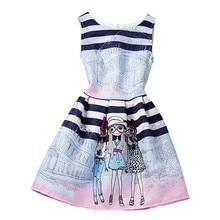 Summer Sleeveless Girls Print Dress
