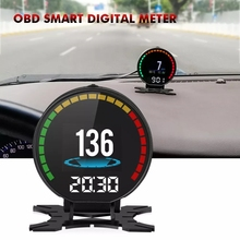 Car Head Up Display OBD GPS HUD Overspeed Warning System Projector Windshield                      Auto Electronic Voltage Alarm