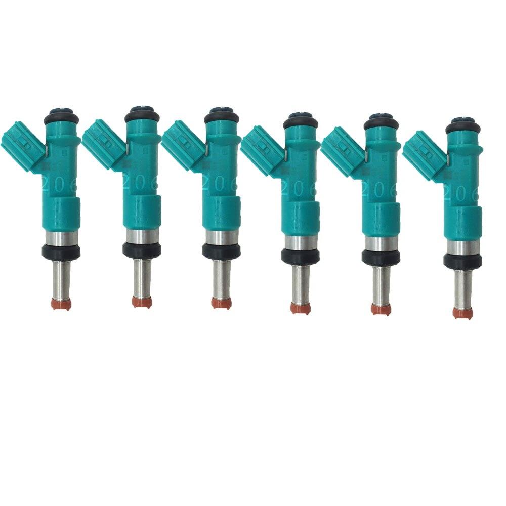 6PCS original flow match for Toyota Highlander Fuel Injectors Camry RAV4 Lexus 23250 31090 23209 31090