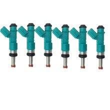 6PCS original fluss spiel für Toyota Highlander Kraftstoff Injektoren Camry RAV4 Lexus 23250 31090 23209 31090 2325031090 2320931090