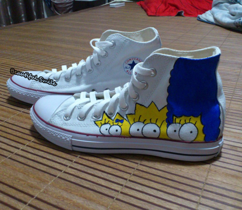 e459ec0c61e9 Custom Unisex Sneaker The Simpsons Hand Painted Shoe The Simpsons Casual  Shoes Canvas Shoe The Simpsons Graffiti Shoes-in Women s Flats from Shoes  on ...