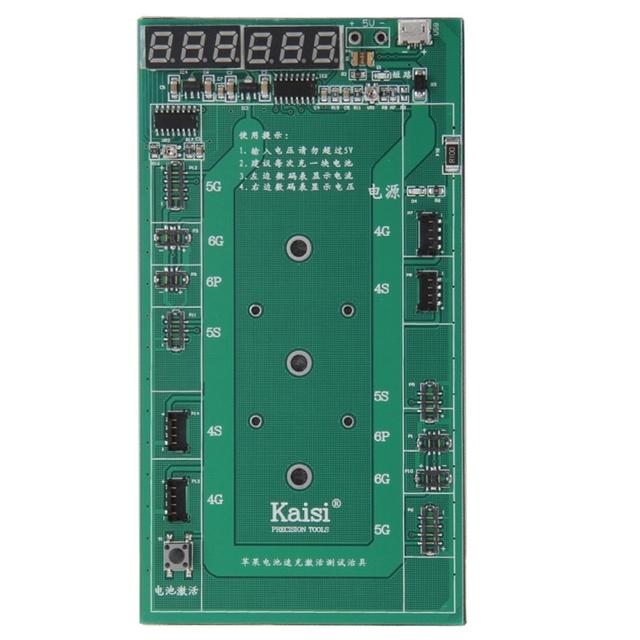 K-9201 6 en 1 profesional de activación de la batería placa de carga con micro usb cable para para iphone 6 & 6 plus/iphone 5 y 5S