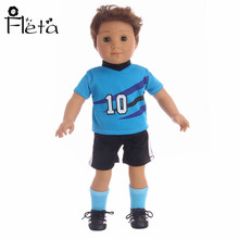 Doll Clothes Sports Suit Blue Sports Suits for 18-inch American Doll or 43 cm   Doll (no sock and shoes)
