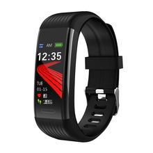 新しい R1 スマート腕時計男性女性心拍数モニター圧力フィットネストラッカースマートウォッチスポーツリストバンド Ios アンドロイド個 Mi バンド 4