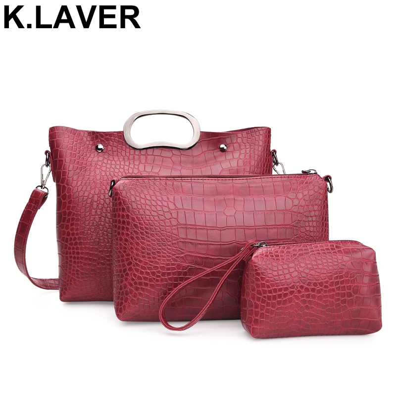 3 Pcs/Set PU Leather Brand Women Bag Handbags High Quality Casual Female Messenger Bags Large Tote Shoulder Bag Purse Bolsas kadell hollow designer handbags high quality women casual tote bag female large shoulder messenger bags pu leather business bag