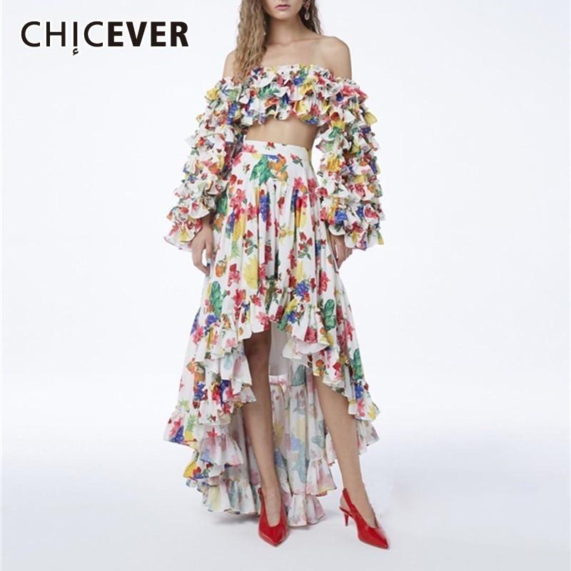 chicever-summer-vintage-print-ruffles-women-two-piece-suit-slash-neck-puff-sleeve-short-top-with-high-waist-irregular-skirt-new