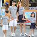 1pcs Summer Family look girl and mother dress girls Dresses father Boys t shirt pants Outfits Matching clothes