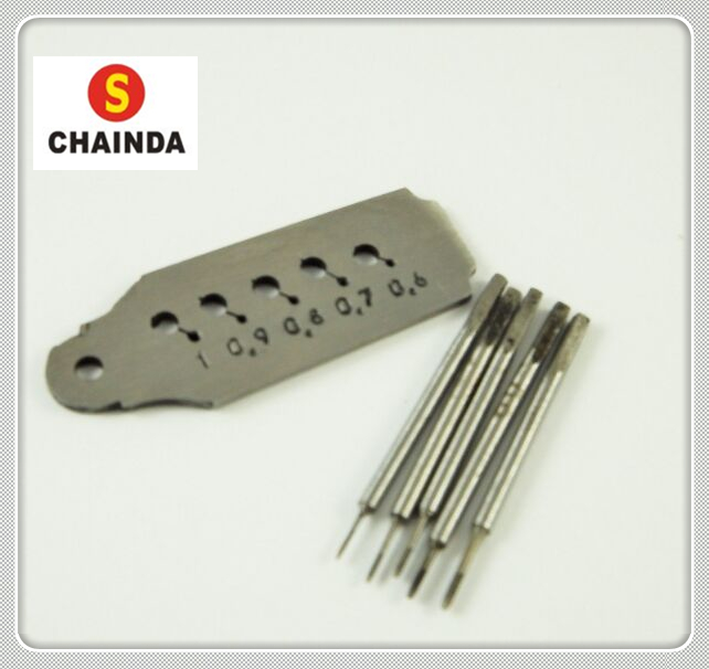 Free Shipping 1 Set Tap and Die Set 0.6mm to 1.00mm 5 Taps and Dies Watch Repair Tool atlas