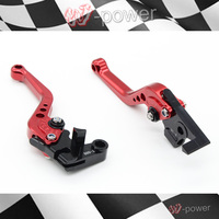 For HONDA CBR 600 F HORNET motorcycle accessories CNC billet aluminum Short Brake Clutch Lever Red