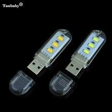 5Pcs New Mini 3 LEDs 5730 SMD LED USB  lamp Book lights Camping Bulb Nightlight For PC Laptops Notebook Reading Night light