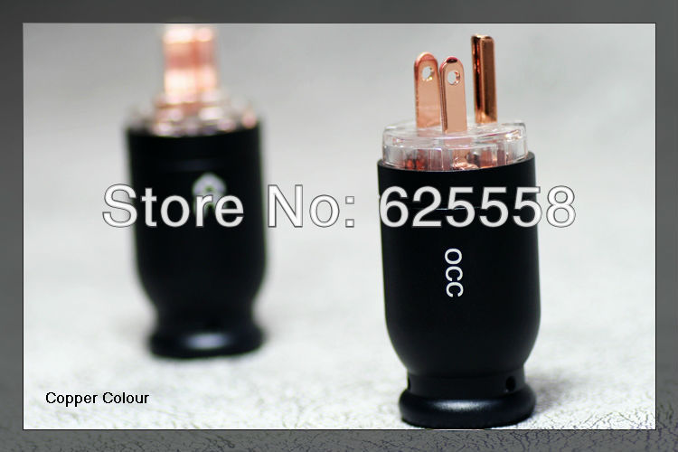 Alloy Series -126 OCC Copper Hi-End US Male plug+ female AC Plug us ac gaofei gf pwocc202 occ copper power core powerflux hi end power cable