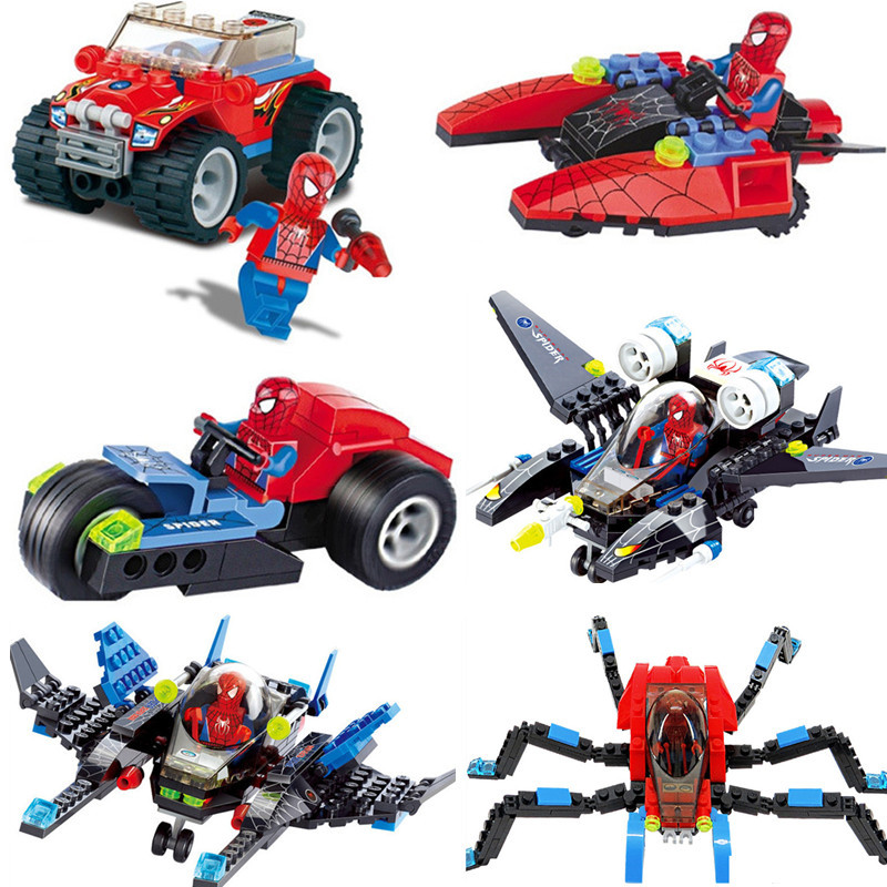 Super Heroes Spiderman Fighter Model City Building Blocks Sets Compatible LegoINGs Bricks Figures Educational Toys for Children qigong legendary animal editon 2 chimaed super heroes building blocks bricks educational toys for children gift kids