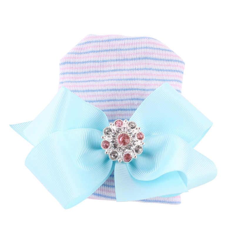น่ารักทารกแรกเกิดเด็กทารก Comfy Bowknot Hospital หมวกหมวก Bowknot หมวกเด็กสำหรับเด็กฤดูหนาว Warm หมวกเด็กการถ่ายภาพ Prop