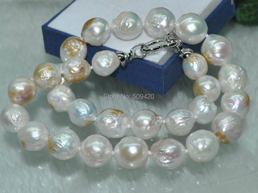 Free Shipping >>>>>Natural Rare copper white Furrow Kasumi cultured Pearl NecklaceFree Shipping >>>>>Natural Rare copper white Furrow Kasumi cultured Pearl Necklace