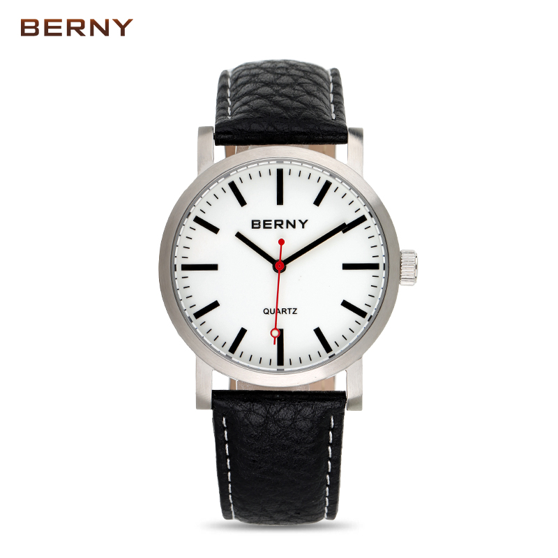 2018 BERNY hommes montres top marque de luxe bayan kol saati reloj hombre en acier inoxydable quartz relogio masculino montre hommes B2678M