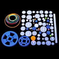 Quimat 80PCS Plastic Gear Kit Gearbox Motor Gear Set With For DIY Car Robot QY16