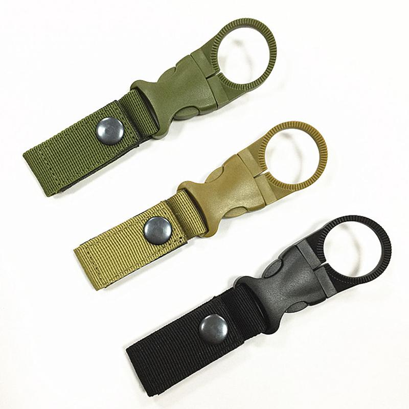 Outdoor Water Bottle Clip Camping Hiking Tactical Hanging Belt Buckle Holde Top