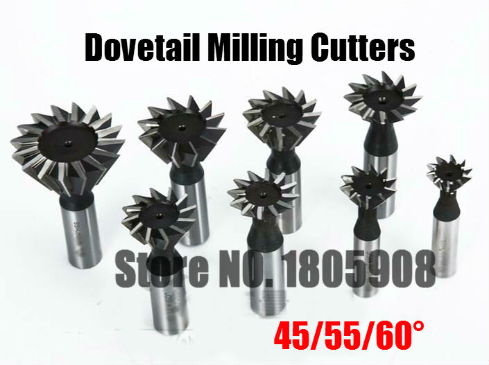 1PCS 45/55/60 Degree HSS Dovetail Cutter End Mill Milling 10mm 12mm 14mm 16mm 18mm 20mm 25mm 30mm 32mm 35mm 40mm 45mm 50mm 60mm