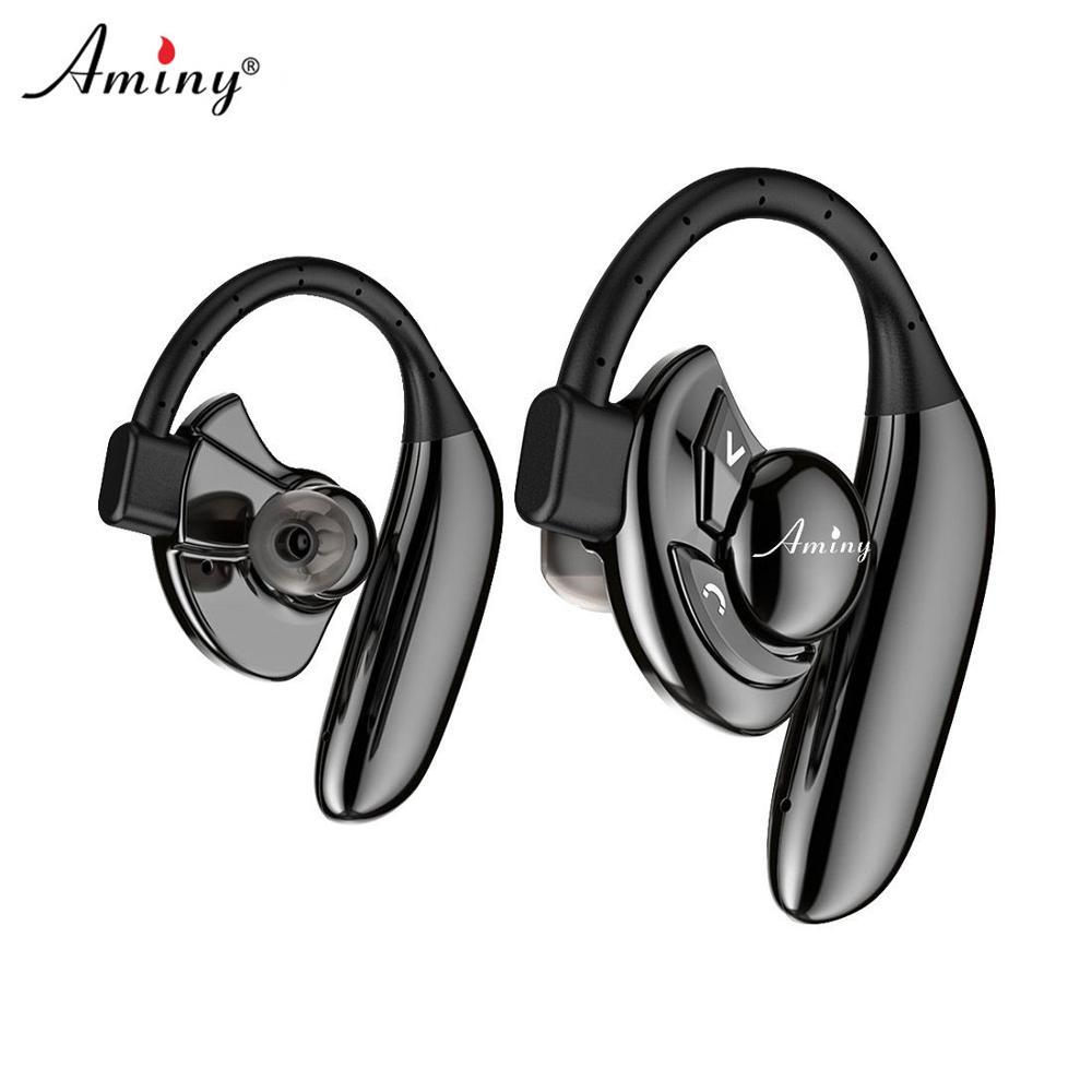 Écouteurs sans fil Bluetooth AMINY écouteurs stéréo HD 10 heures casque anti-bruit de batterie écouteurs sans fil anti-transpiration IPX6