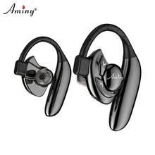 AMINY Wireless Bluetooth Headphones HD Stereo Earbuds 10 Hour Battery Noise Cancelling Headset IPX6 Sweatproof earphone