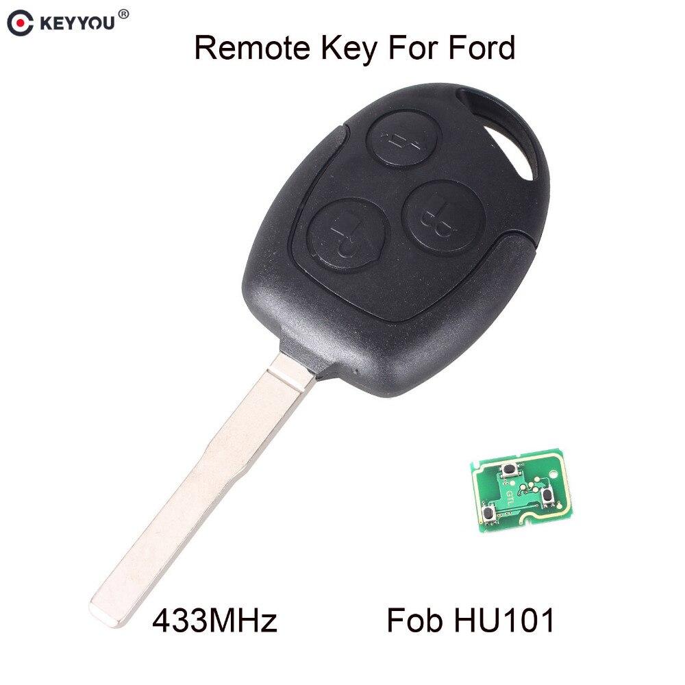 Chiave Telecomando per FORD Focus Fiesta Mondeo C MAX Fusion Transit KA Keyless Entry Fob 3 Tasti 433MHz