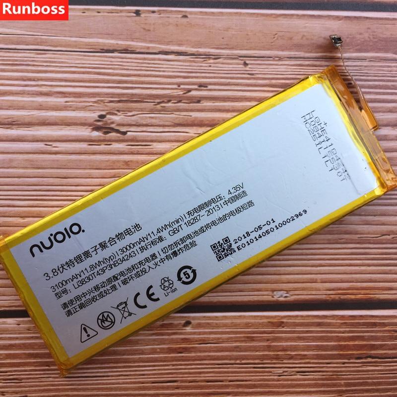 100% New High Quality LI3830T43P3HB34243 3100mAh Li-Ion Battery for ZTE Nubia Z7 MAX NX505J Batterie Batterij Bateria100% New High Quality LI3830T43P3HB34243 3100mAh Li-Ion Battery for ZTE Nubia Z7 MAX NX505J Batterie Batterij Bateria