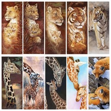 Diamond Embroidery 5D DIY  Painting Animal Tigers And Giraffes Cross Stitch Full Rhinestone Christmas Gift