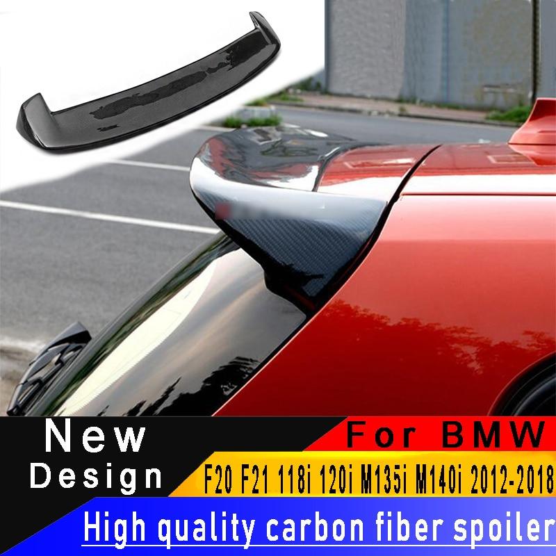Pour BMW F20 F21 118i 120i M135i M140i 2012-2018 becquet en Fiber de carbone de haute qualité matériau en Fiber de carbone aileron de toit d'aile arrière