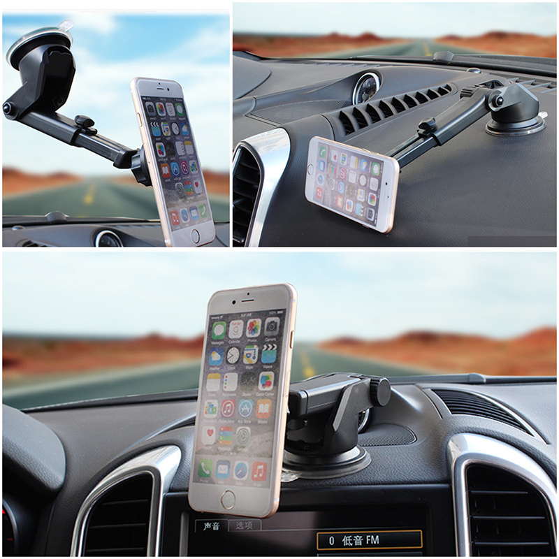 Universal 360 Degree Rotating Mobile Phone Holder Car Magnetic Holder Stand Mount For Gps Smartphone Cellphone Telescopic Stant