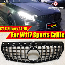 CLA W117 GTS Style Front Bumper Grille ABS Silver Fits For MercedesMB CLA180 200 250 45AMG Sports Grills without sign 14-