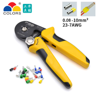 VSC9 10 6A 0.08 10mm^2 26 7AWG Adjustable Precise Crimp Pliers Tube Bootlace Terminal Crimping Hand Tool HSC9 10 6A