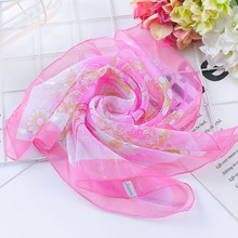 Spring-summer hot  women silk scarf square lady wrap small office neck head hair foulard 50*50cm skinny scarfs