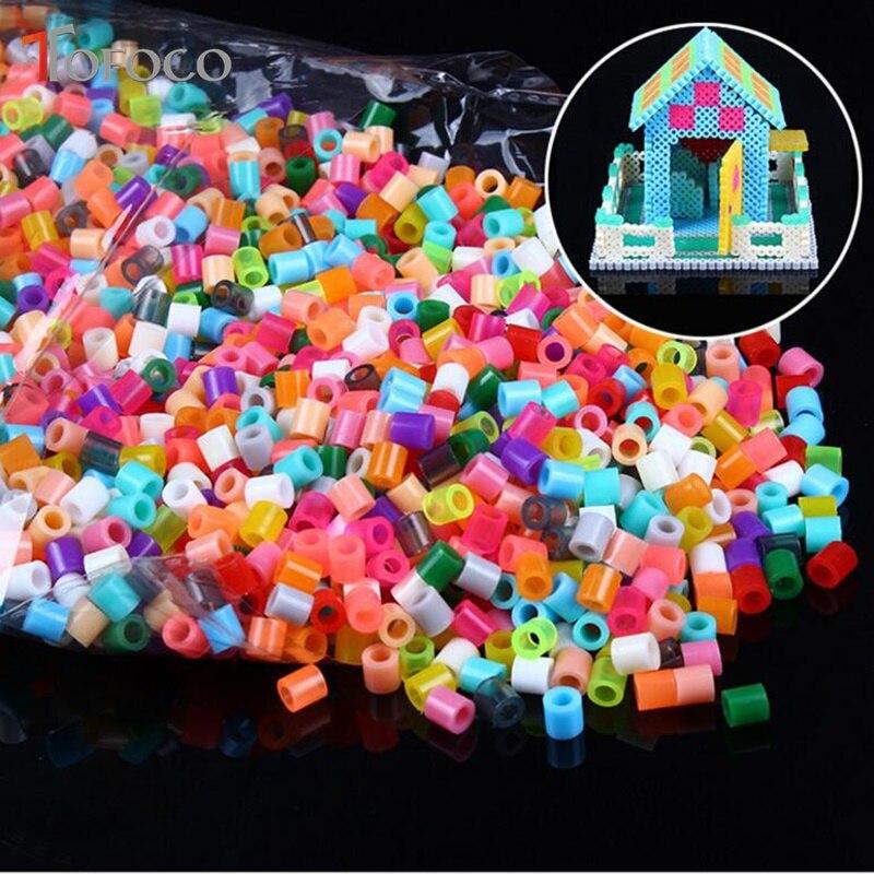 TOFOCO 1000pcs 5mm EVA Hama/Perler Beads Toy Kids Fun Craft DIY Handmaking Fuse Bead Multicolor Intelligence Educational Toys