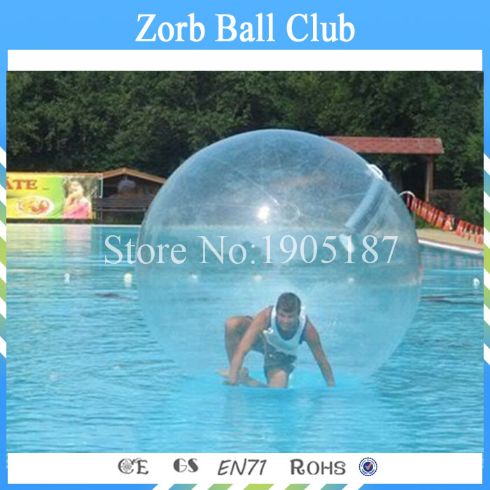 CE certification 2m diameter 0.8mm thickness TPU Inflatable Zorb Water Walking Ball Walk On Water цена
