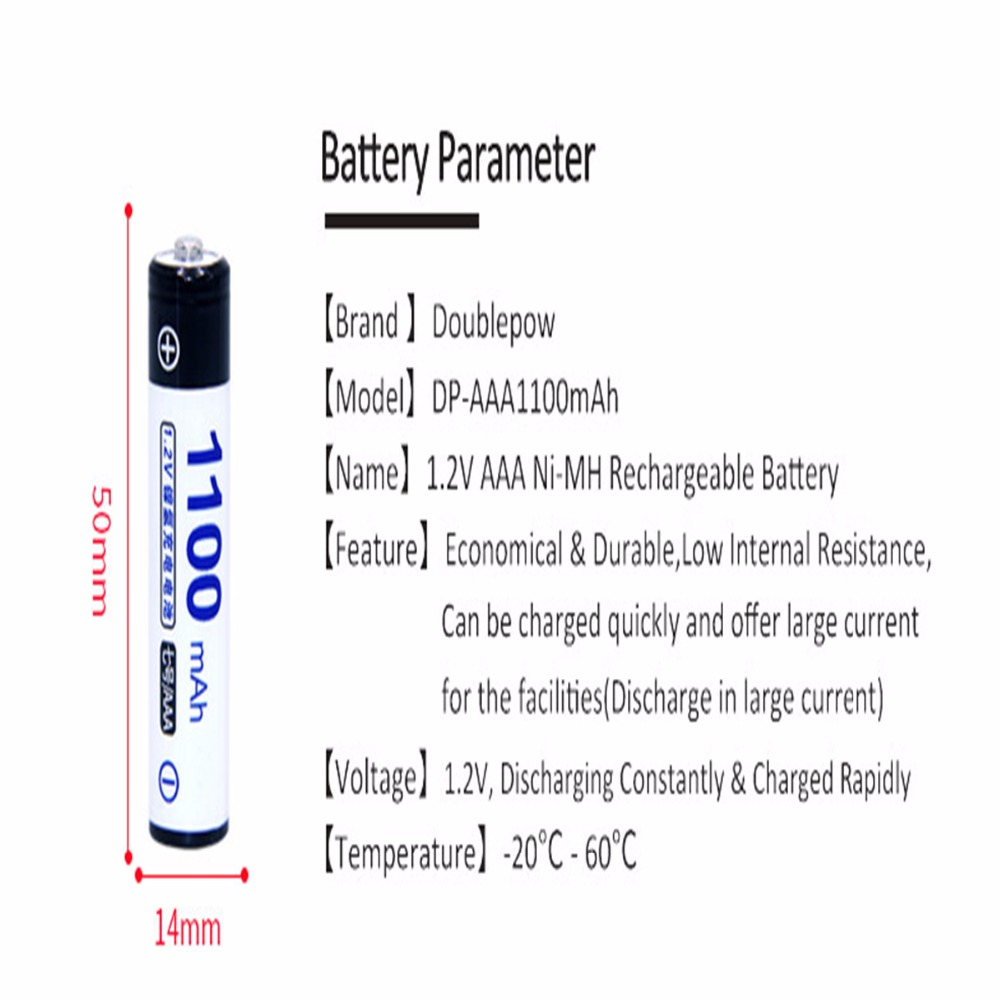 Real capacity! 8 pcs AAA 1.2V NIMH AAA rechargeable batteries 1100mah for camera razor toy remote control 3A batterie