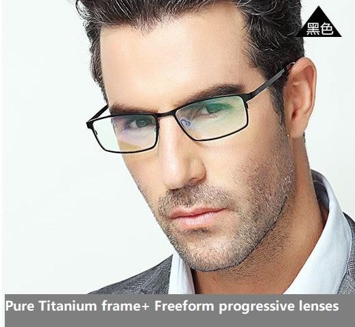 Multi-focal Freeform progresiva lentes + titanio puro marco hipermetropía  presbicia multi-focal 7e0ff1e4804e