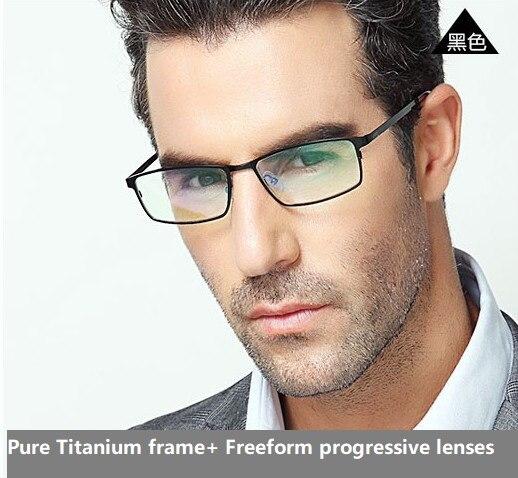 ottima vestibilità vasta gamma nuovo stile Multi focal Freeform progressive lenti + telaio In Titanio Puro ...