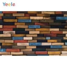Yeele Wood Bricks Wall Photocall Grunge Retro Fade Photography Backdrop Personalized Photographic Backgrounds For Photo Studio