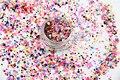 RFP21-167 Mezclar Colores formas de Punto redondo Del Brillo para el arte del clavo, gel de uñas, maquillaje y la decoración de DIY