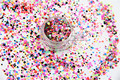 RFP21-167  Mix Colors Dot shapes round  Glitter for nail art ,nail gel,makeup and DIY decoration