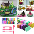 32 Color Playdough Polymer Clay Block Moulding Bake + 5 Tools Set Modellings Toys For Children