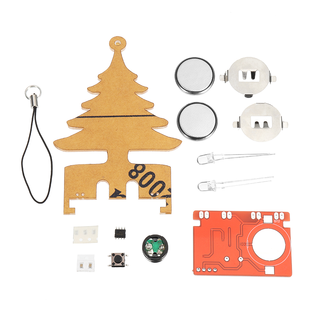 DIY Electronic Music Flash Tree Kit Battery Power LED Flashes Tree Soldering Practice Board Module(China)