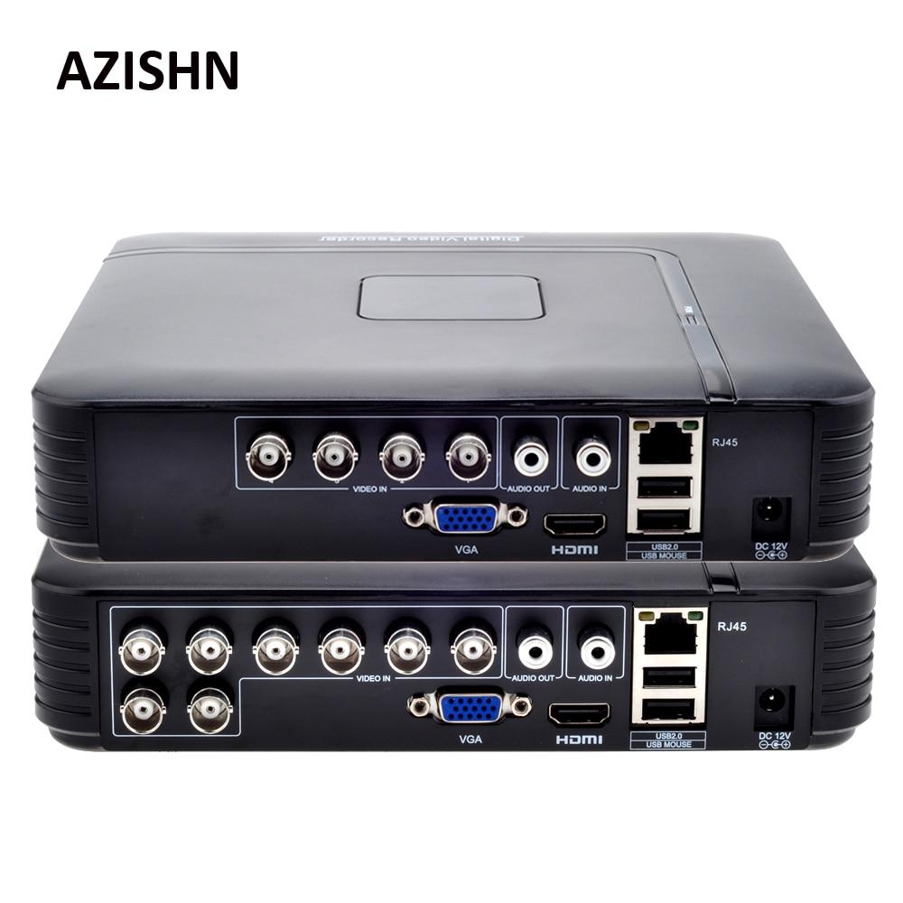 AHD 1080N 4CH 8CH CCTV DVR Mini DVR 5IN1 For CCTV Kit VGA HDMI Security System Mini NVR For 1080P IP Camera Onvif DVR PTZ H.264 1