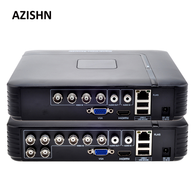 AHD 1080N 4CH 8CH CCTV DVR Mini DVR 5IN1 For CCTV Kit VGA HDMI Security System Mini NVR For 1080P IP Camera Onvif DVR PTZ H.264 1