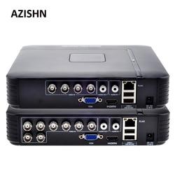 AHD 1080N 4CH 8CH CCTV небольшой видеорегистратор 5в1 для CCTV комплект VGA HDMI система безопасности мини NVR для 1080P IP камера цифровой видеорегистратор Onvif ...