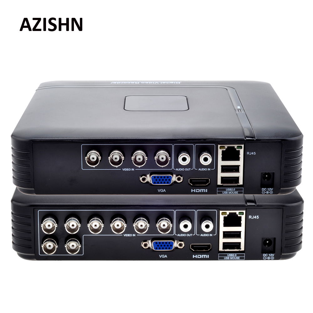AHD 1080N 4CH 8CH CCTV DVR Mini DVR 5 en 1 para Kit CCTV VGA HDMI sistema de seguridad Mini NVR para cámara IP 1080P Onvif, DVR PTZ H.264