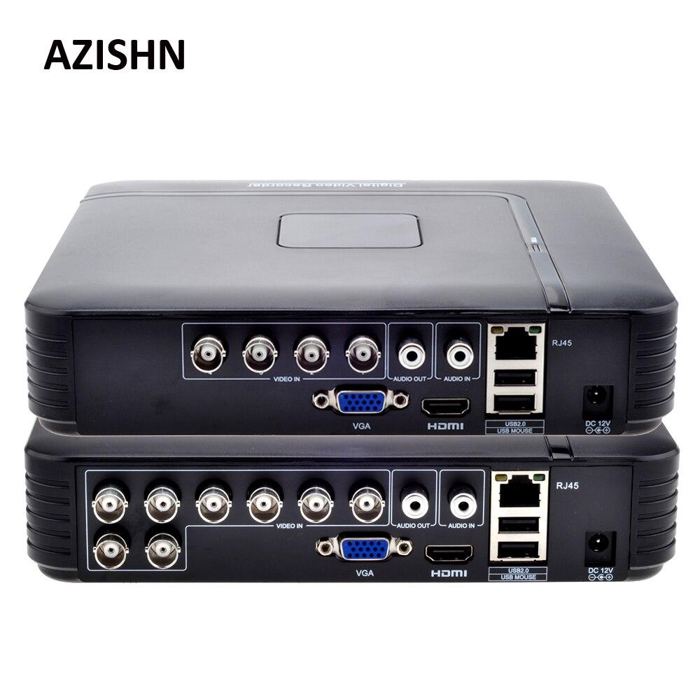 AHD 1080N 4CH 8CH CCTV DVR Mini DVR 5IN1 para CCTV Kit VGA HDMI sistema de seguridad Mini NVR para 1080 p cámara IP Onvif DVR PTZ H.264