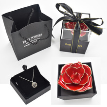 Girlfriend Gift 24K Gold Plated Rose Jewelry Box Can Put necklace ring as Mother Day Birthday gift [funny] put ring or other gift in the davinci code cryptex valentine s day birthday gift unique marriage proposal free lotr ring