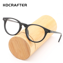 2017 HDCRAFTER High quality Vintage clear lens glasses wood frames men computer reading eyewear for women
