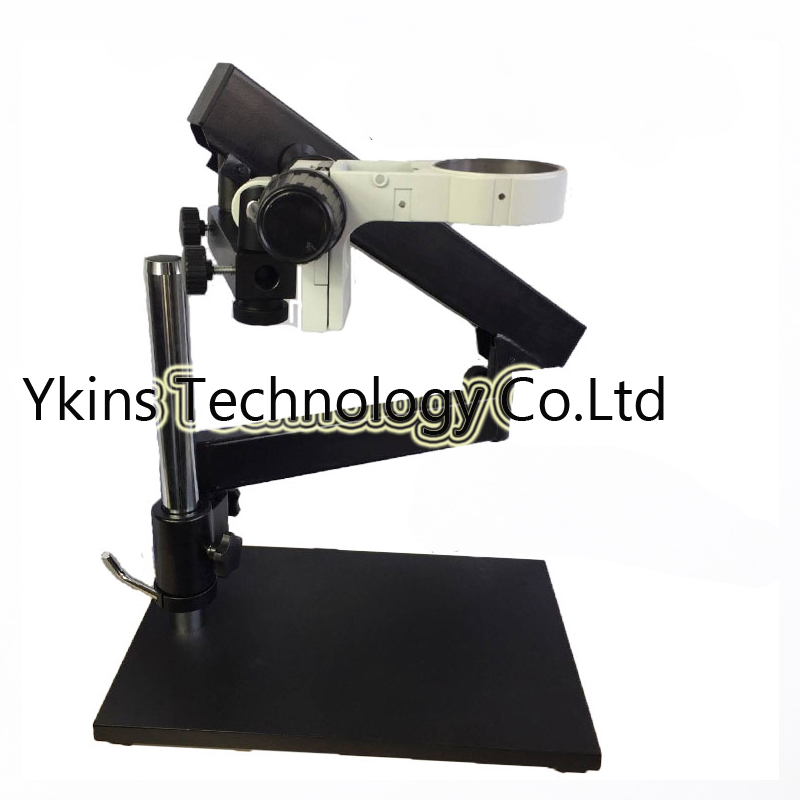 Stereo Microscope Stand Articulating Arm Pillar Clamp with Focusing Rack for Stereo Binocular Trinocular eyepieces microscope lucky zoom brand strong darticulating arm pillar clamp stand for stereo microscopes microscope accessories free shipping